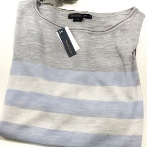 Pendleton Scoop Neck Pullover High Low Tunic